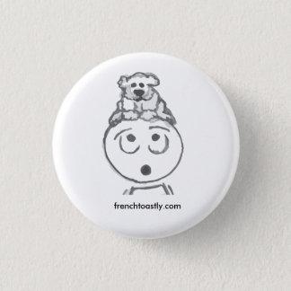 Poodle @frenchtoastly 3 cm round badge