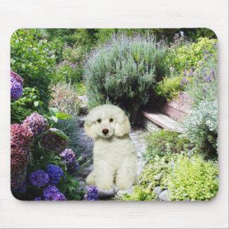 Poodle Garden Mousepad