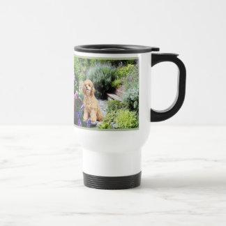 Poodle Garden Travel Mug