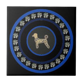 Poodle gifts ceramic tile decorations