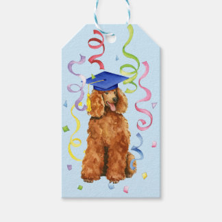 Poodle Graduate Gift Tags