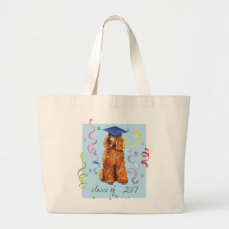 Poodle Graduate Large Tote Bag