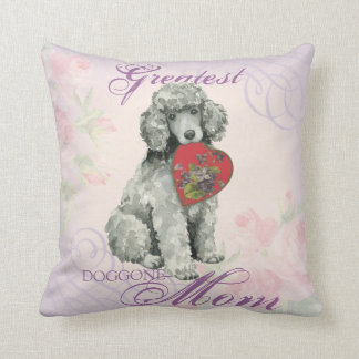 Poodle Heart Mom Cushion