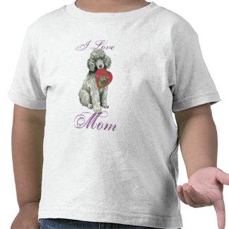 Poodle Heart Mom Shirt