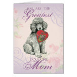 Poodle Heart Mum Greeting Card