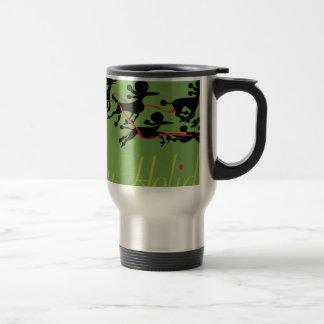 Poodle Holiday card Travel Mug
