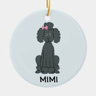Poodle Holiday PHOTO Ornament