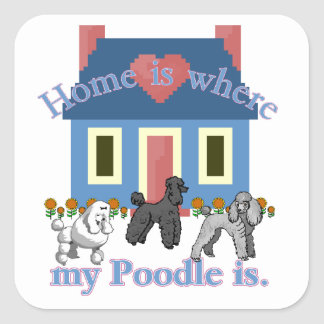 Poodle Home Is Sticker