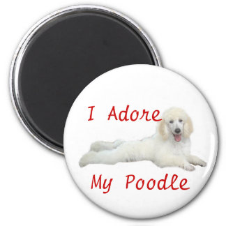 Poodle I Adore Magnet