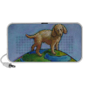 Poodle is best dog on earth cute art painting laptop speaker