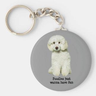 Poodle Keychain