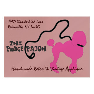 Poodle Leash BC Template Pack Of Chubby Business Cards