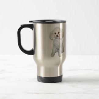 Poodle - Min or toy - White #2 Travel Mug