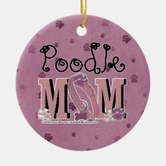 Poodle MOM Christmas Ornament
