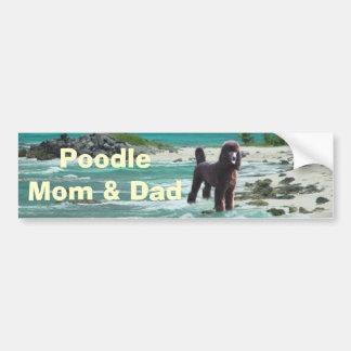 Poodle Mom & Dad Bumper Sticker