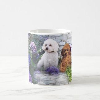 Poodle Mom Hydrangea Mug