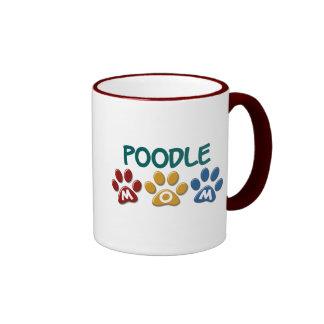 POODLE Mom Paw Print 1 Coffee Mugs