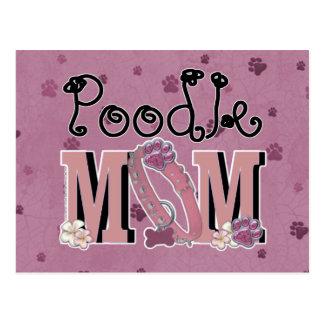 Poodle MOM Postcard