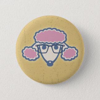 Poodle Nerd 6 Cm Round Badge