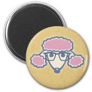 Poodle Nerd 6 Cm Round Magnet