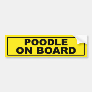 Poodle on Board Bumper Sticker