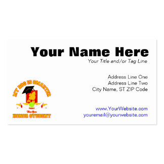 Poodle Pack Of Standard Business Cards