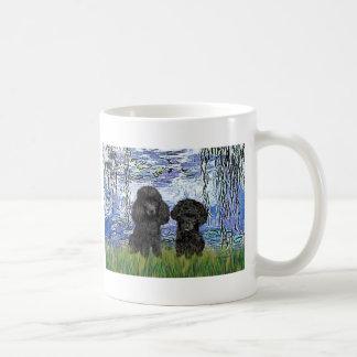 Poodle Pair (black) - Lilies 6 Coffee Mug