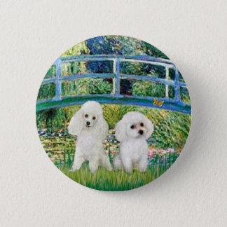 Poodle Pair (W2) - Bridge 6 Cm Round Badge