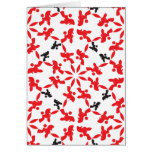 Poodle Pattern red Cards