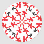 Poodle Pattern red Stickers
