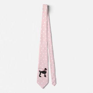 Poodle Pink Polka Dot Neck Tie