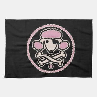 Poodle Pirate 1cl Tea Towel