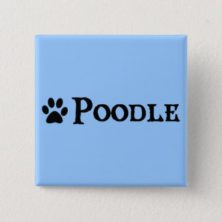 Poodle (pirate style w/ pawprint) 15 cm square badge