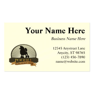 Poodle png business card