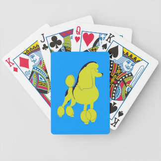 Poodle Pop Art Bicycle Playing Cards