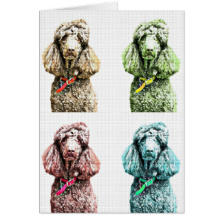 Poodle Pop Art Blank Card by Focus for a Cause
