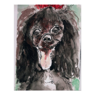 Poodle Poster