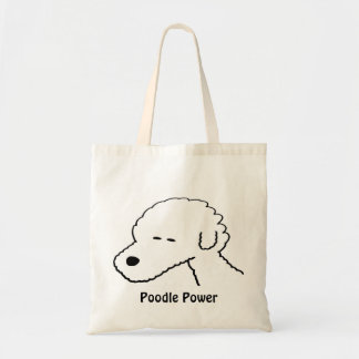 Poodle Power Budget Tote Bag