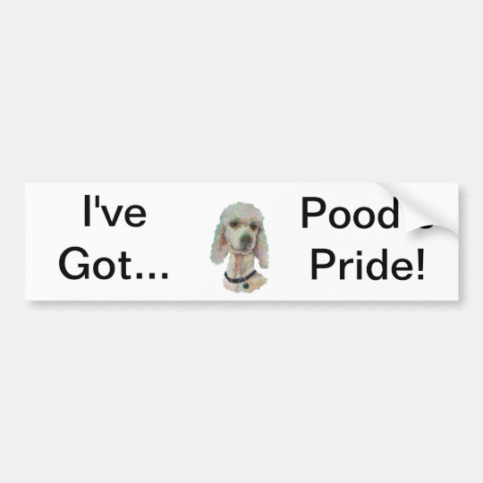 Poodle Pride and Pet Me Products Bumper Sticker