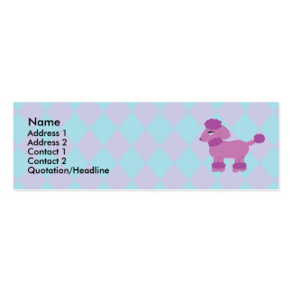 Poodle Profile Cards Business Card Template