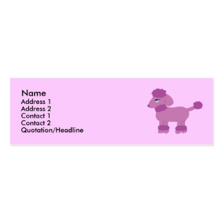 Poodle Profile Cards Pack Of Skinny Business Cards