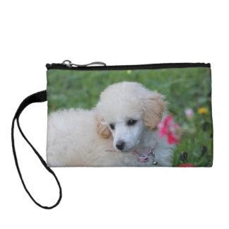 Poodle puppy baguettes change purse