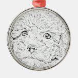 Poodle puppy christmas tree ornaments