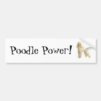 Poodle -- Puppy Clip Bumper Sticker