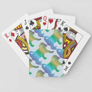 Poodle Puppy Love Playing Cards