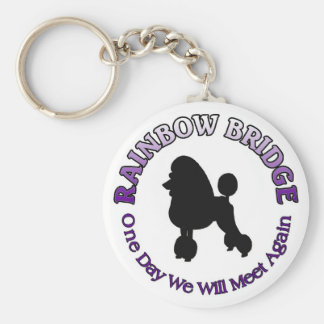 POODLE RAINBOW BRIDGE SYMPATHY DOG KEY RING