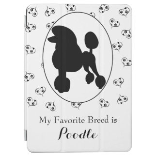 Poodle Silhouette Hearts and Paw Prints iPad Air Cover