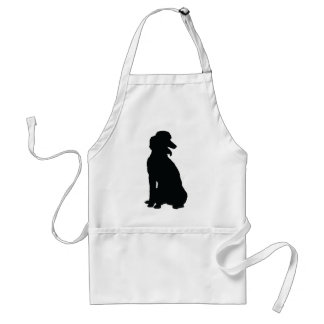 Poodle Silhouette Standard Apron