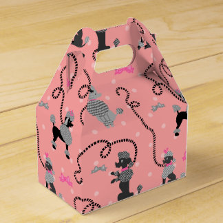 Poodle Skirt Retro Pink and Black 50s Pattern Favour Box