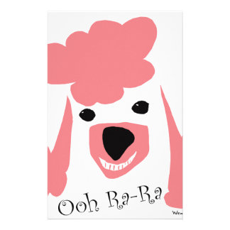 Poodle Smile Personalized Stationery